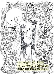 月の女神のweddingラフ