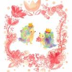 リップとプップ ピンクの花