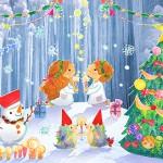 クリスマスに願いを 紙にんぎょう