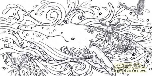 ぬりえbookグリム童話の不思議な世界変化するイラスト 絵本作家 Roko