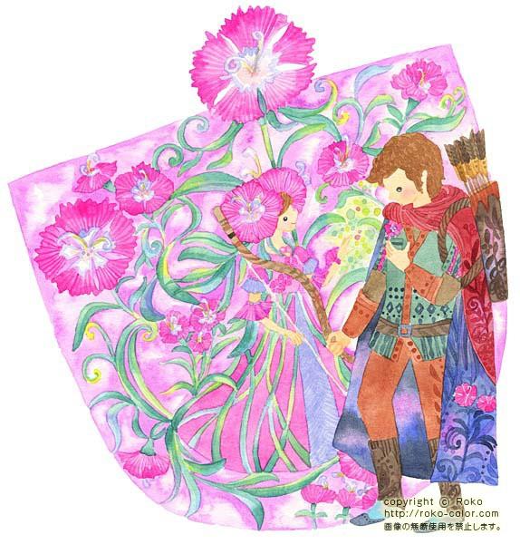 グリム童話の不思議な世界なでしこ なでしこのグリム童話の花の